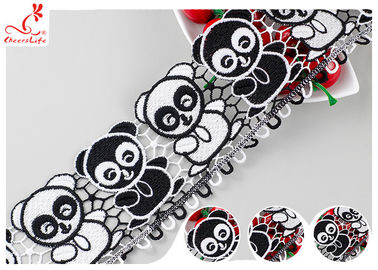 Multi Color Silk Lace Trim With Panda Lace High Color Fastness